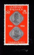 756668024 1980 1981  SCOTT 201 POSTFRIS  MINT NEVER HINGED EINWANDFREI  (XX) COIN BATTLE OF HASTINGS COIN - Guernesey