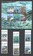 P535 2013 FALKLAND ISLANDS FAUNA BIRDS PENGUINS #1230-5 MICHEL 28 EU KB+SET MNH - Pingouins & Manchots