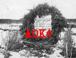 UKRAINE HUSIATYN Grab Friedhof IR 462 1917 Ostfront Helger Kassel Schäfer Breda Holland Polen Ternopil Russland Tarnopol - Weltkrieg 1914-18