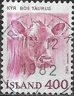ICELAND 1982 Domestic Animals - 400a. Cow FU - 1944-... Republique