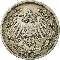 Monnaie, GERMANY - EMPIRE, 1/2 Mark, 1905, Karlsruhe, TTB, Argent, KM:17 - [ 2] 1871-1918 : Empire Allemand