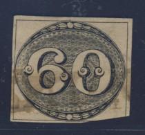 """21448 -BRAZIL 1842 - #2  """"OLHO DE BOI 60 REIS""""  USED W/ CLIPPING ON BOTTOM RIGHT CORNER - Brésil"""