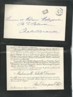 Ingrande Sur Vienne - F.P. Décès De Mll Juliette Duveau  Le 5/11/1903 -  Fau 7301 - Avvisi Di Necrologio