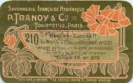 250419A - Carte Parfumée P TRANOY & Cie TOURCOING PARIS Au Trèfle Indien - Parfumerie JB ROBERT Savon Sita Violette - Vintage (until 1960)