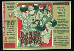 étiquette Bière Belgique: Bière  Danko Power Ipa 3,5% 75cl Brasserie Stuise Et Thomas Danko Oostvleteren - Cerveza