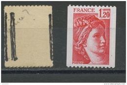 "FRANCE -  1F20 Rouge SABINE ""3 PHO"" -  N° Yvert 1981B** - 1977-81 Sabine Of Gandon"