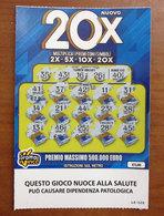 GRATTA E VINCI 20X - Biglietti Della Lotteria