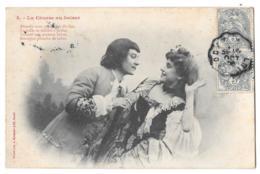 CPA.  FEMMES  ..ARTISTIQUE....  BERGERET..  LA COURSE  AU BAISER.. N°3..1906.. BE SCAN - Vrouwen