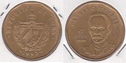 Cuba 1 Peso 1992 KM#347 - Used - Cuba