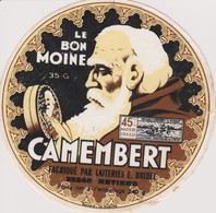 ETIQUETTE CAMEMBERT LE BON MOINE - Quesos