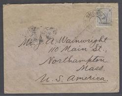 AUSTRIAN Levant. 1895. Salonique / Greece - USA, Mass (4 Nov). Fkd Env One Piaster. - Austria