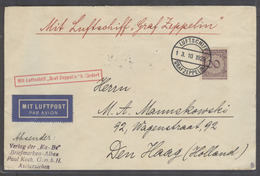 Airmails - World. 1929 (3 Oct). Zeppelin. Germany - Netherlands (13 Oct). Air Fkd Env Special Cachet. VF. - Unclassified