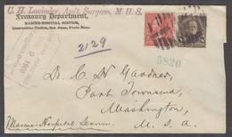 PUERTO RICO. 1900 (9 May). San Juan - USA (15 Mayo). Sobre Treasury Dpt Certificado Con Sellos USA Sobrec Porto Rico Tar - Puerto Rico