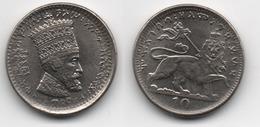 + ETHIOPIE  + 10 MATONYA 1923 + HAILE SELASSIE +  TRES BELLE + - Ethiopie