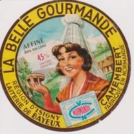 ETIQUETTE CAMEMBERT LA BELLE GOURMANDE - Quesos