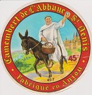 ETIQUETTE CAMEMBERT DE L'ABBAYE DE SAINT DENIS - Quesos
