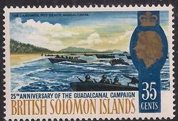 British Solomon Islands 1967 QE2 35ct Pacific War Umm SG 161 ( L1288 ) - British Solomon Islands (...-1978)
