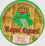 ETIQUETTE CAMEMBERT ROYAL LIGUEIL - Quesos