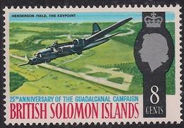 British Solomon Islands 1967 QE2 8ct Pacific War Umm SG 160 ( L1220 ) - British Solomon Islands (...-1978)