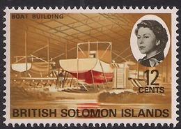 British Solomon Islands 1968 QE2 12ct Boat Building Umm SG 172 ( L1467 ) - British Solomon Islands (...-1978)