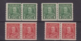 CANADA : 4 PAIRES . DENT 8 1/2 .  N° 179 A ET N° 181 A . 1935 . - 1911-1935 Reign Of George V