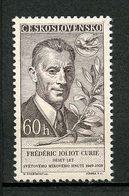 TCHECOSLOVAQUIE 1959 N° 1016 ** Neuf MNH Superbe C 2,20 € Joliot Curie Conseil Mondial De La Paix Oiseau Colombe - Czechoslovakia