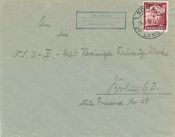 WEISSIG über Sorau (Nd. Lausitz) / Arbeitslager . ... -  1935  Brief Nach Berlin - Landpoststempel , Postnebenstempel - Germany