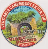 ETIQUETTE CAMEMBERT VIEUX PORCHE SEMUSSAC - Quesos
