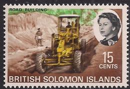 British Solomon Islands 1968 QE2 15ct Road Building Umm SG 174 ( L1436 ) - British Solomon Islands (...-1978)