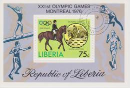 LIBERIA  BLOCS/FEUILLETS JEUX OLYMPIQUES DE MONTREAL 1976 - Estate 1976: Montreal