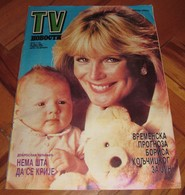 Linda Evans TV NOVOSTI Yugoslavian May 1986 VERY RARE ITEM - Books, Magazines, Comics