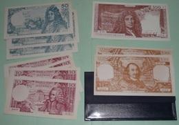 Rare Pochette De Billets De Banque Factices 1960's, France ASCO école Scolaire, 500 100 50 10 Francs Fr - Specimen