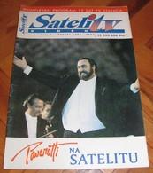 Luciano Pavarotti SATELIT TV Serbian August 1993 VERY RARE - Books, Magazines, Comics