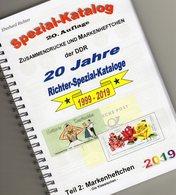MH DDR 2019 Katalog Teil 2 RICHTER New 25€ Standard Markenheftchen+Abart Booklet+error Special Catalogue Bf Germany - Catalogues