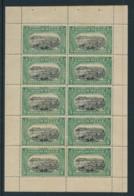 Congo Belge 64 - 5 Cent -  Feuillet De 10 Du Carnet 2 - Voir Gomme ** - 1894-1923 Mols: Nuovi
