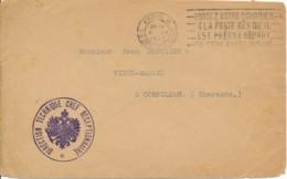 L En Franchise Paris 8 6-VII-1917 - Direction Technique Chef Réceptionnaire- Armoirie Russe / Service Armée Russe - Marcofilia (sobres)