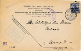 Brief Enregistrement Des Domaines - Mechelen S/ Meuse Naar Urmond - Hasselt 6.5.16 - WW I