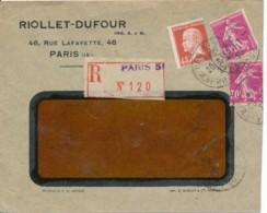 L Recommandé Pasteur 45C - Dentelure Décentré - Covers & Documents