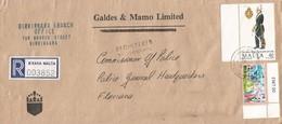 Malta 1991 Birkirkara Royal Malta Artillery Registered Domestic Cover To Police - Malta