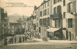 WW 2 Cpa 63 CLERMONT-FERRAND. Place Sugny Et Lycée Jeanne D'Arc - Clermont Ferrand