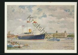 H.M.Y. Britannia Passing Greenwich [AA41-1.563 - Paquebots