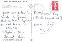 HAUTES PYRENEES 65 -   ARAGNOU PLAU ENGALY  - CACHET RECETTE   N° R A8 -  1995 -   CATALOGUE A. LAUTIER  - - Marcophilie (Lettres)