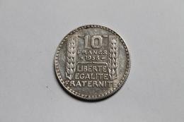 10 Francs 1938, Argent, France - K. 10 Francs