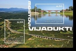 HR 2019-1376-7 BRIDGES, HRVATSKA CROATIA, S/S. MNH - Ponts