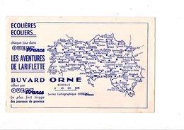 BUVARD JOURNAL OUEST FRANCE - CARTE DE L'ORNE - Non Classificati