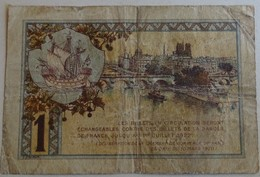 Billet 1 Franc Chambre De Commerce De Paris - - France