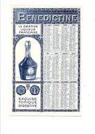 BUVARD LIQUEUR BENEDICTINE - CALENDRIER 1911 - Blotters