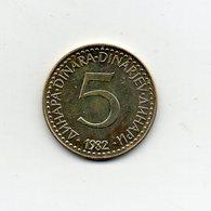 Jugoslavia - 1982 - 5 Dinara - Vedi Foto - (MW2257) - Jugoslavia