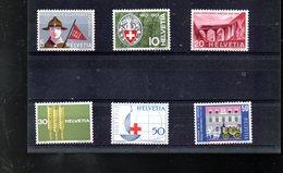 SUISSE 705/710** SUR LA SERIE DE PROPAGANDE DE 1963 - Svizzera