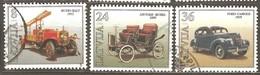 Latvia: Full Set Of 3 Used Stamps, Cars 1996, Mi#435-437. - Latvia
